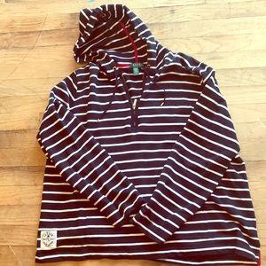 Ralph Lauren Striped Quarter Zip Hoodie ⚓️